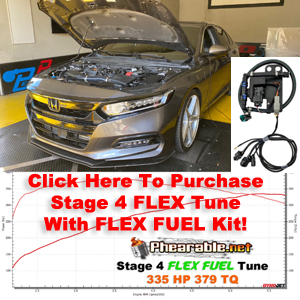 Accord Stage 4 Flex Fuel Tune With Flex Fuel Kit